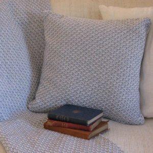 Kissen gewebt blau-weiß - Blue Cottage (11)