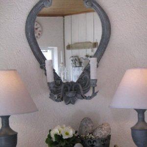 französischer Spiegel mit Beleuchtung - BLUE COTTAGE