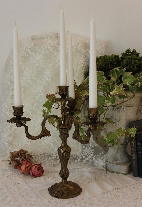 Bronze Sehr Alte Kerzenleuchter-kandelaber Antiquitäten & Kunst