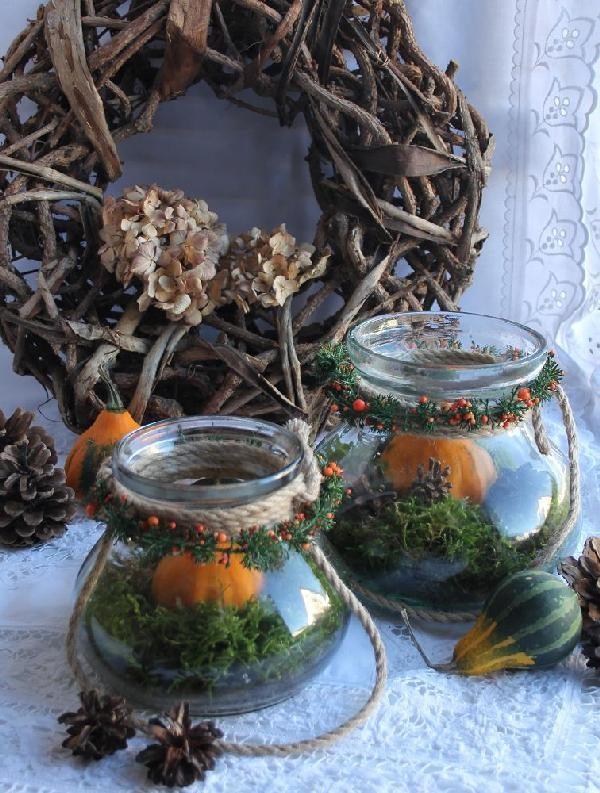 Windlicht Dekoglas Vase - KLEIN GROSS BLUE COTTAGE
