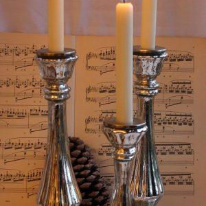 Kerzenleuchter Bauernsilber mit Rille BLUE COTTAGE k-IMG_0277