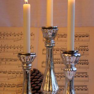 Kerzenleuchter Bauernsilber mit Rille BLUE COTTAGE k-IMG_0281