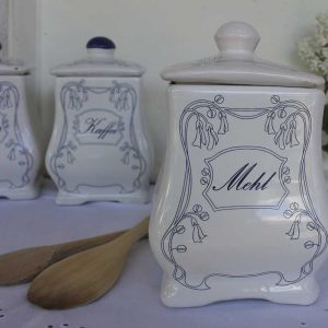 Antike Vorratsdosen Jugendstil 3-er-Set BLUE COTTAGE