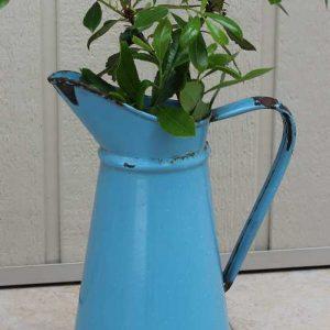 Alte Wasserkanne Emaille BLUE COTTAGE