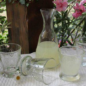 Gläserset mit Karaffe Fleur de Lys