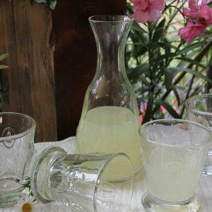 Gläserset mit Karaffe Fleur de Lys BLUE COTTAGE