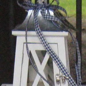 Laterne Holz weiß - KLEIN BLUE COTTAGE