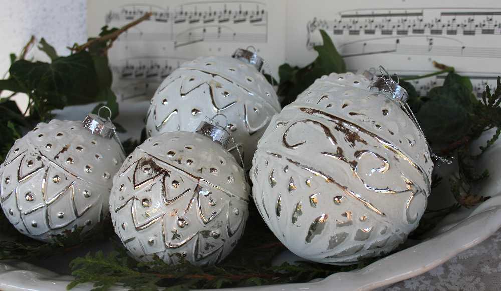 Christbaumkugeln Weiß.Christbaumkugel In Weiß Xl