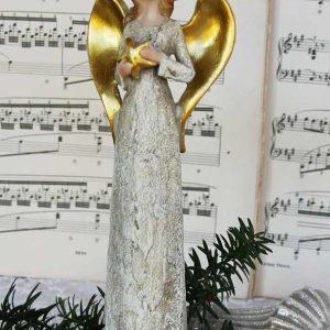 Engelfigur mit Stern gold BLUE COTTAGE