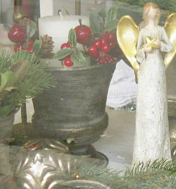 Pokal in antikmessing MITTEL - BLUE COTTAGE