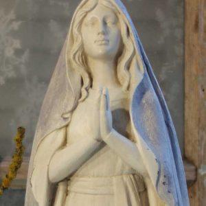 Madonna Maria-Figur, grauer Umhang BLUE COTTAGE