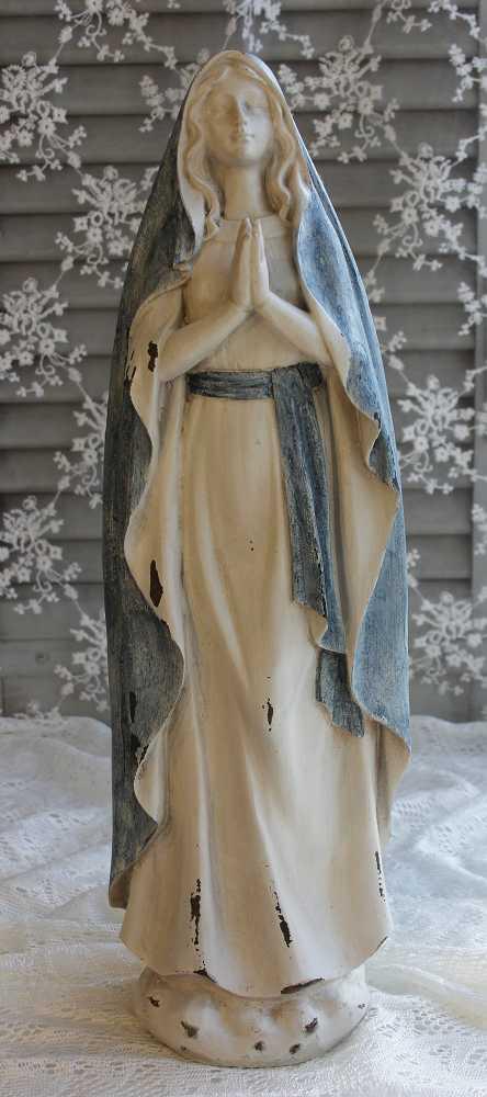 Madonna Maria-Figur mit blauem Gürtel und Umhang BLUE COTTAGE