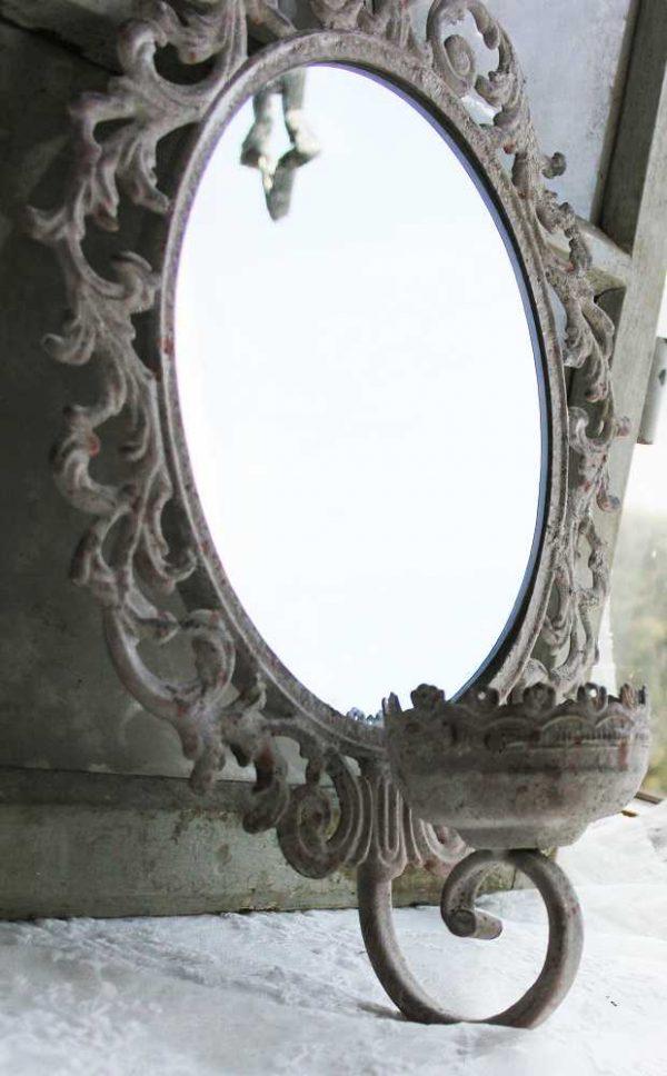 bezaubernder Kerzenhalter-Spiegel BLUE COTTAGE
