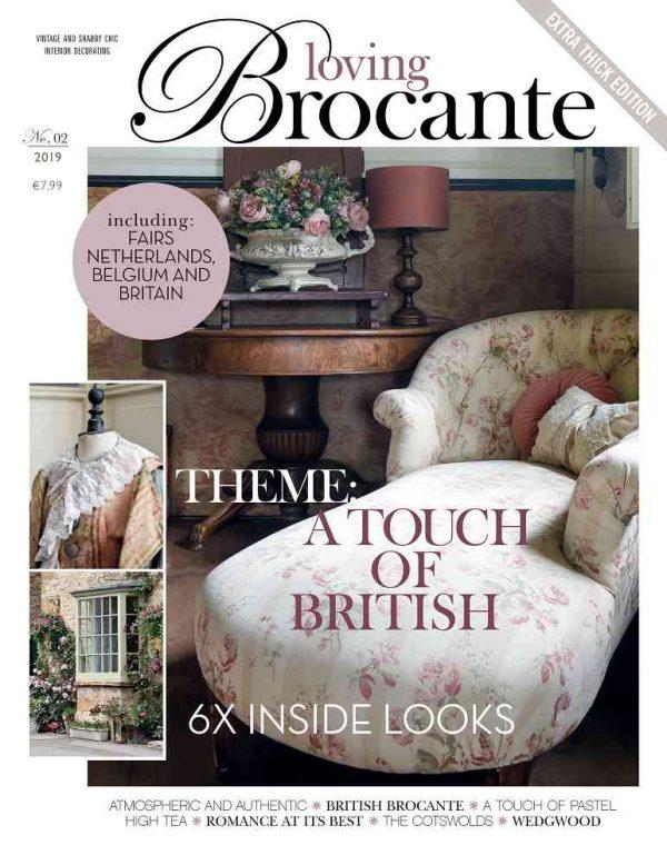 Magazin LOVING BROCANTE Ausgabe 2/2019 BLUE COTTAGE