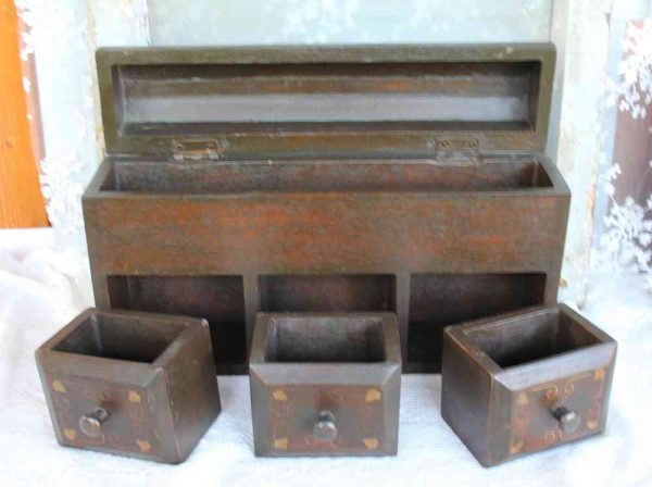 alter Utensilio, Schreibschatulle, Stiftebox
