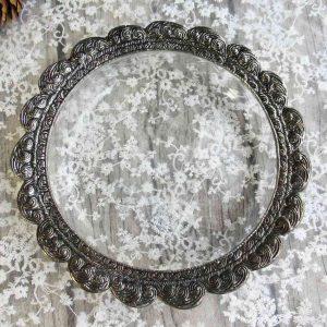 Glasschale mit Schliff und Metallrand, KLEIN - BLUE COTTAGE