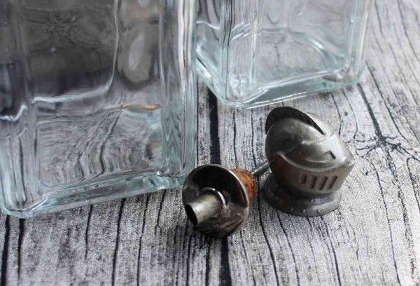 alter Tantalus Flaschenträger Metall BLUE COTTAGE