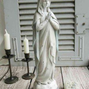 Madonna Maria-Figur mit graublauem Umhang BLUE COTTAGE