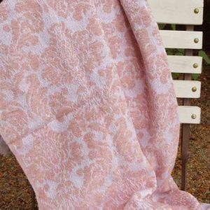 gewebtes Plaid, Decke 'Ornament' ROSA - BLUE COTTAGE