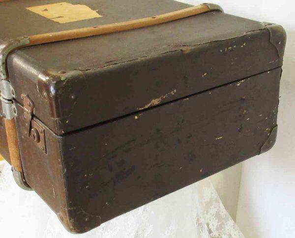 antiker Überseekoffer Reisekoffer Vulkanfiber BLUE COTTAGE
