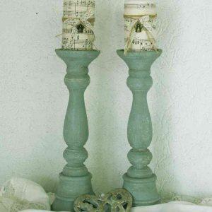 PAAR große alte Kerzenständer Frankreich BLUE COTTAGE
