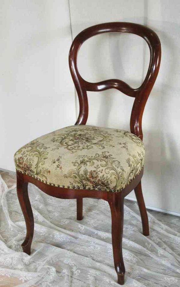alter Stuhl Polsterstuhl Louis Philippe Stil Frankreich BLUE COTTAGE